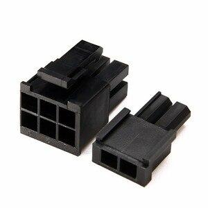 Image 5 - 400 قطعة تجعيد أنثى محطات دبوس التوصيل + 50 قطعة 5557 8 (6 + 2) P ATX EPS PCI E موصلات مع صندوق بلاستيكي