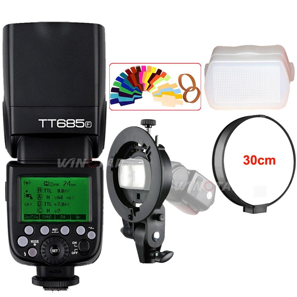 Godox TT685F 2.4G HSS 1/8000 s TTL Caméra Flash + Bowens Support pour Fujifilm X-Pro2/X-Pro1/X-T10/X-T20/X-T2 X-T1/X100F X100T