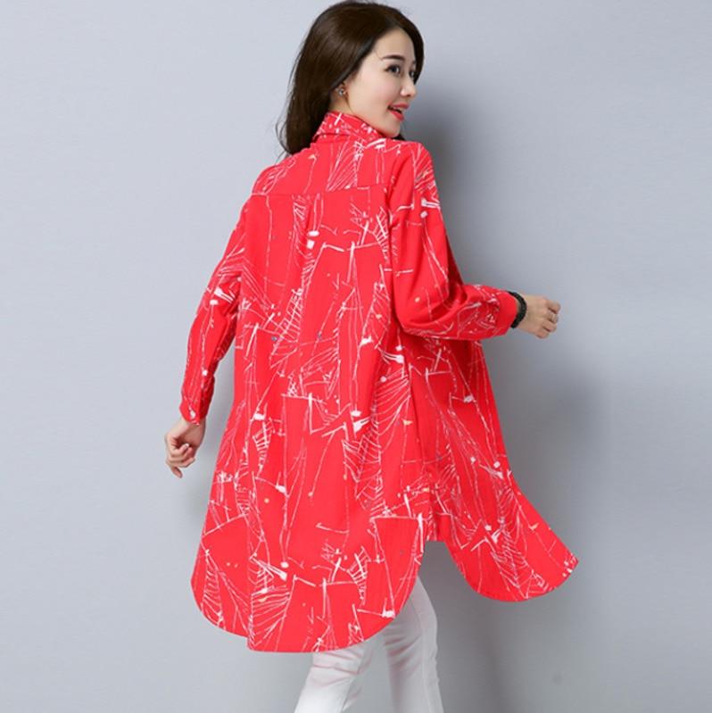 Azul Caramelo Túnica Y Tamaño Corbata rojo Larga Para Elegante Tinte Mujer Asimétrico Camisa verde Plus 4xl Impresión 2924 Primavera De Color amarillo Camisas qtxAwnaH