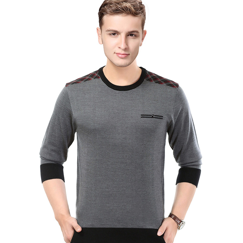 New Arrival 2018 Autumn Male Plaid Sweater Jumper Pullovers Mens Long Sleeve Fashion Striped Knit Shirt Long Sleeve
