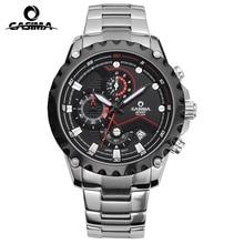 Casima дизайн новая мода кварц мужчины наручные часы лучший бренд роскошные 2017 полный нержавеющей стали 40 мм большой циферблат часы мужчины водонепроницаемый