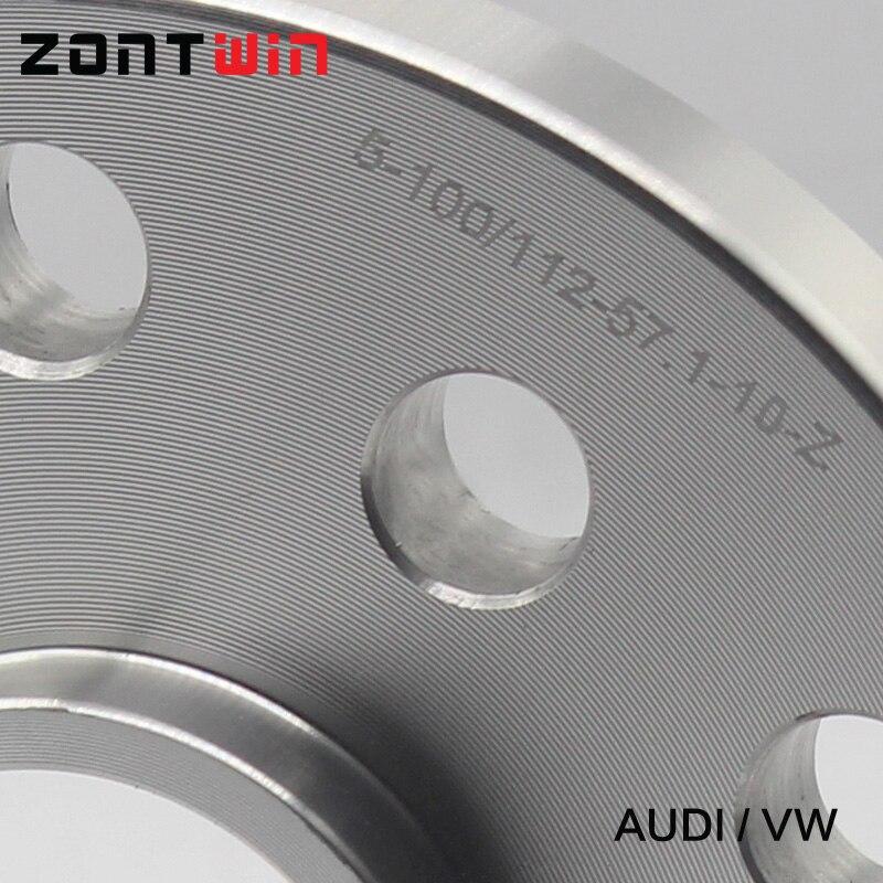 2 шт. 10 мм 12 мм колеса Прокладка костюм для автомобиля Audi комплект 5x100 и 5x112 57,1 Allroad/A3/A4/A6/S6/RS4/S8/TT/90/200 /5000 Turbo/Quattro