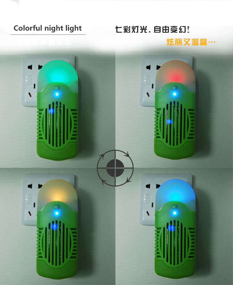 Wall Plug Type Air Purifier Deodoriser Household Consumable Free Anion Fresh Machine With Night Light