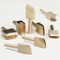 8 PCS Conjuntos de Ferramentas de Mão Única Linha 1-9mm Borda De Couro para ferramenta de vedação diy ferro de solda de bronze borda creaser marcação ponta -- M25