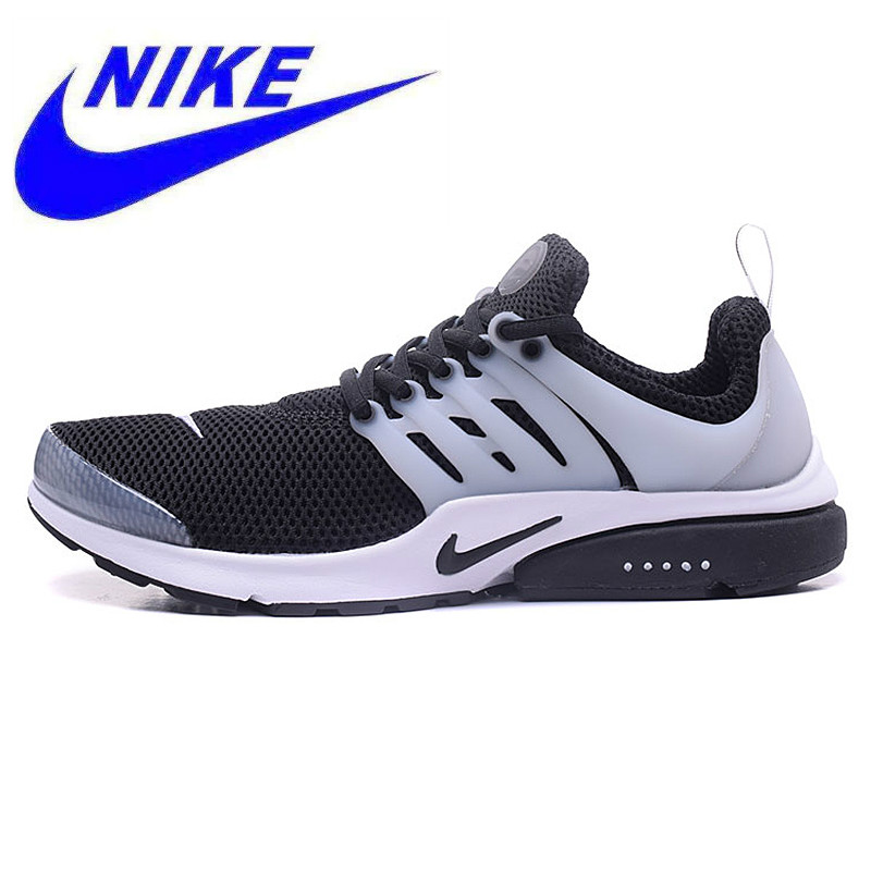 best sneakers 852a2 71367 Oeiginal Nike Air Presto Men s Black and White Oreo   All White Running  Shoes Sport Sneakers