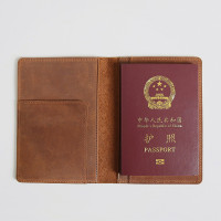 Men Passport Case Travel Wallet for Passport Ticket Genuine Leather Covers for Passports Handmade Vintage Holder Passport