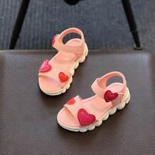 d07456190 KKABBYII الصنادل الفتيات الأبيض الأطفال الصيف أحذية صنادل أطفال للبنات بو  الجلود الزهور الأميرة أحذية الفتيات
