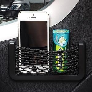 Image 3 - Car Mesh Net Bag Car Organizer Universal Storage Net Holder Pocket for BMW E46 Creative Sundry Mesh Bag Car Styling Accessories