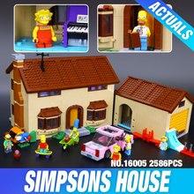 Nouveau 2575 Pcs Lepin 16005 Simpson famille Kwik-E-Mart Ensemble de Blocs de Construction Briques Jouets Éducatifs 71006 drôle Enfants DIY Cadeau