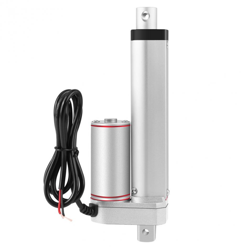 Portable Electric Linear Actuator Motor 100mm/4inch Stroke Heavy Duty DC 12V Load Linear Actuator Electric Motor 10inch 250mm stroke 12v dc electric linear actuator 4 27mm s 150kg load 12 36v dc 1500n heavy duty tubular electric motor 24v