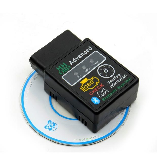 Mini ELM327 V2.1 Bluetooth HH OBD Advanced OBDII OBD2 ELM 327 Auto Car Diagnostic Scanner code reader scan tool