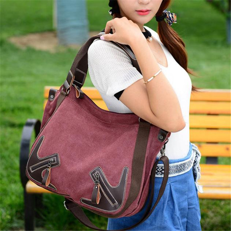 Casual Canvas Women Bags Female Shoulder Bag Designer Ladies Hand Bag Tote Sac Main New High Quality Women Handbag wholesale weiju new canvas women handbag large capacity casual tote bag women men shoulder bag messenger crossbody bags sac a main