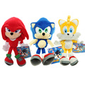 Sonic the Hedgehog Series Plush Doll  Tails nanogram Sonic the Hedgehog Sonic doll 25cm
