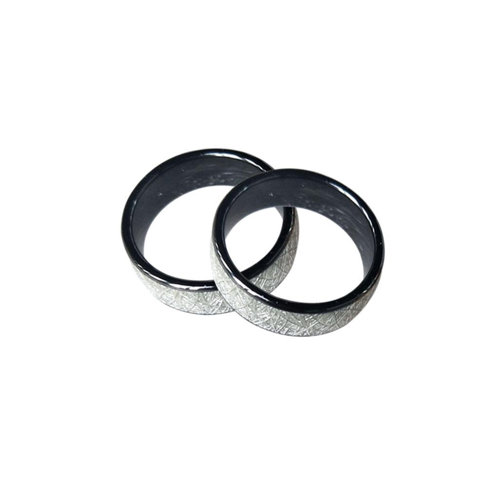 125 кГц или 13,56 МГц RFID керамики умный палец, яркие серебряные кольца носить для мужчин и женщин мужчин