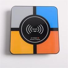 RK3328 R tv BOX S10 Android 8,1 HD Смарт сетевой плеер ТВ коробка Беспроводная зарядка смарт ТВ на андроид коробка