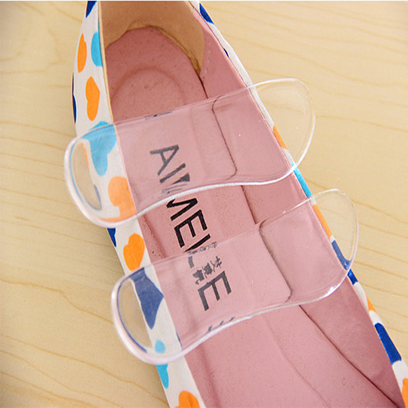 6 pair/lot  Silicone Gel Heel  Liner Foot Care Shoe Pads transparent slip-resistant Protector invisible Cushion Insole P11 honeycomb structure unisex 2 layer height increased shoe insole pads deep pink pair
