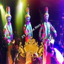 Cc90 вечерние платья событий мужские клоун Одежда DJ ночной клуб этап шоу носит производительности Подиум шляпы костюм бар косплей куртка KTV