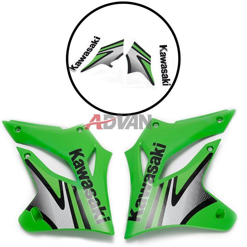 все цены на Front Side Fairing Cowling Plastic Cover For Kawasaki KLX250 2004 2005 2006 2007 - Decals Sticker - Left & Right онлайн
