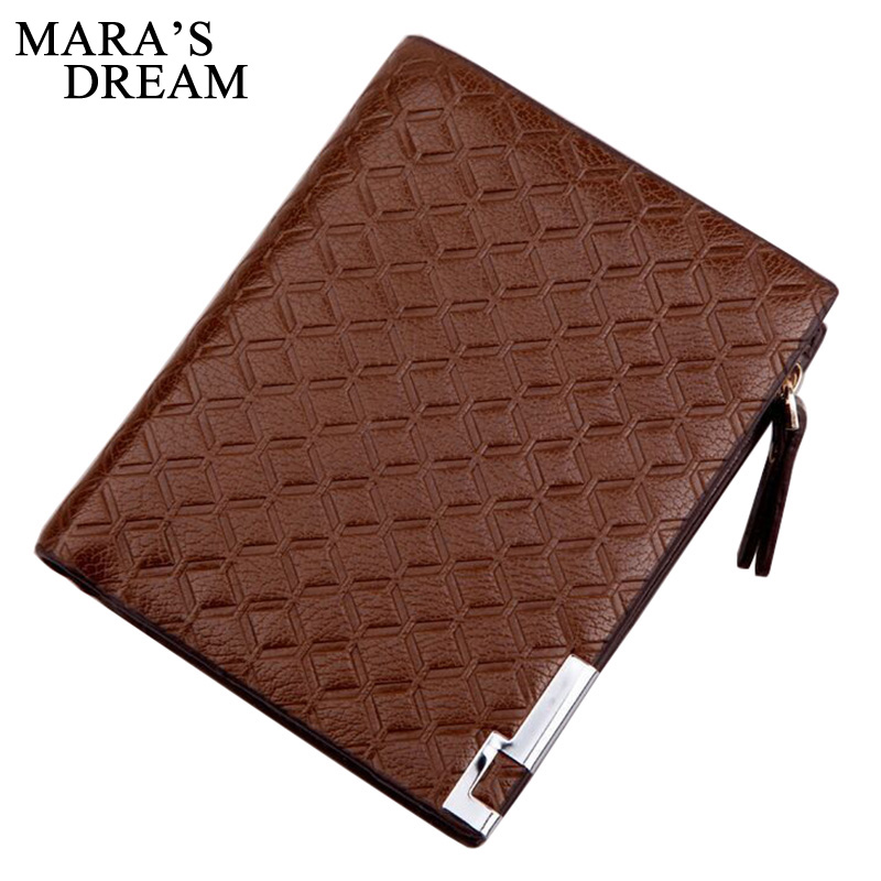 Mara's Dream New Wallet Short Men Wallets PU Leather Male Purse Card Holder Wallet Business Man Zipper Wallet Men Coin Bag frank buytendijk dealing with dilemmas where business analytics fall short