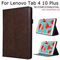 IBuyiWin Magnetic Smart PU Leather Case For Lenovo Tab 4 10 Plus TB X704F X704N X704L