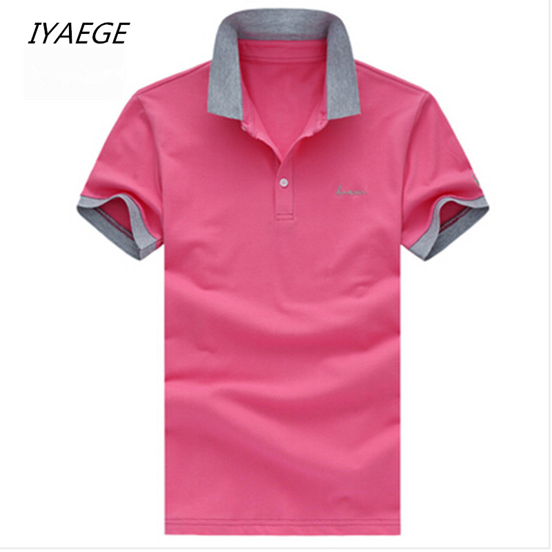 Plus Size M - 5XL Men   POLO   2019 New Brand Match Colors Collar   POLO   Shirts Summer 95% Cotton Short Sleeve Shirts   POLOS   L