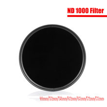 Filtores de densidade neutra 49mm 52mm 55mm 58mm 62mm 67mm 72mm 77mm 82mm 95mm foto do filtro nd1000 do nd para a câmara sony de canon nikon