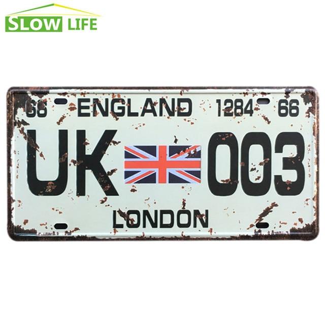 uk 003 car metal license plate metal tin sign vintage home decor tin