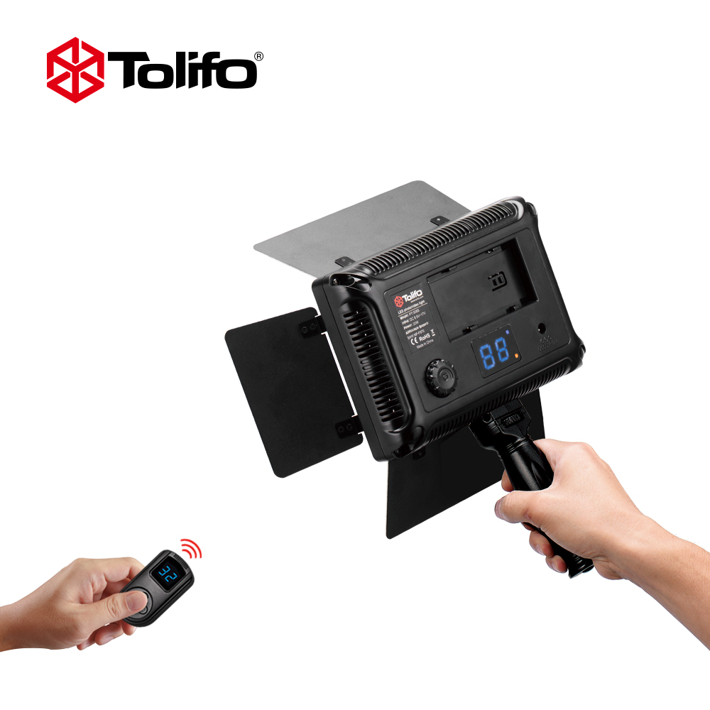 Tolifo Pt 308B II 20w 308 LEDs Bi color 3200K 5600K LED Video Light Panel with LED Display 2.4G Wireless Remote Control for DSLR-in Photographic Lighting from Consumer Electronics    1