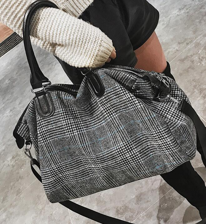 Luggage-Bag Large-Capacity Portable Of Cylinder Short-Distance Female Korean-Version