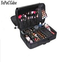 Makeup artist professional travel beauty makeup storage box and cosmetic bag semi-permanent nail tattoo multi-layer toolbox