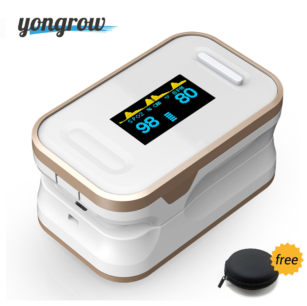 Yongrow Medical Digital Fingertip Pulse Oximeter Blood Oxygen Saturation PR Monitor SpO2 high Accurate Family Health Care oled pulse finger fingertip oximeter blood spo2 pr heart rate monitor
