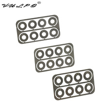 VULPO 10bag/lot Airsoft Gear set gap adjustment Stainless steel super precision shims 0.1&0.2&0.3mm For AEG gearbox Any version