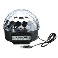 Jiguoor Digital LED RGB Crystal Magic Ball Effect Light For Christmas Halloween Stage Party Disco DJ