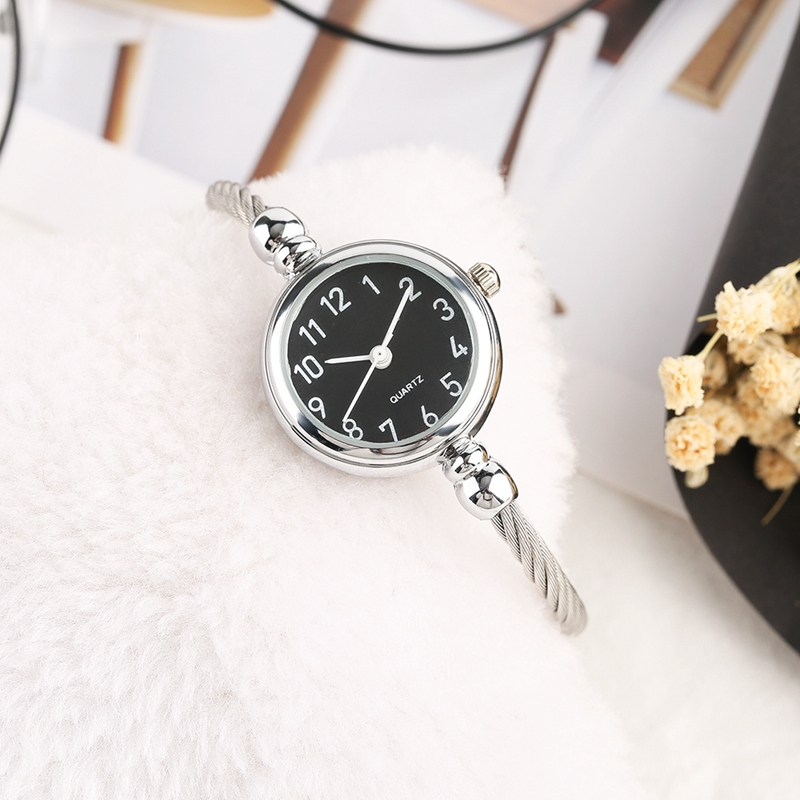 Unique Women Bracelet Watch Little Smooth Dial Top Luxury Silver Slim Strap Korean Retro Art Female Clock Quartz Watch Gift Hour 2018 2019 (37)