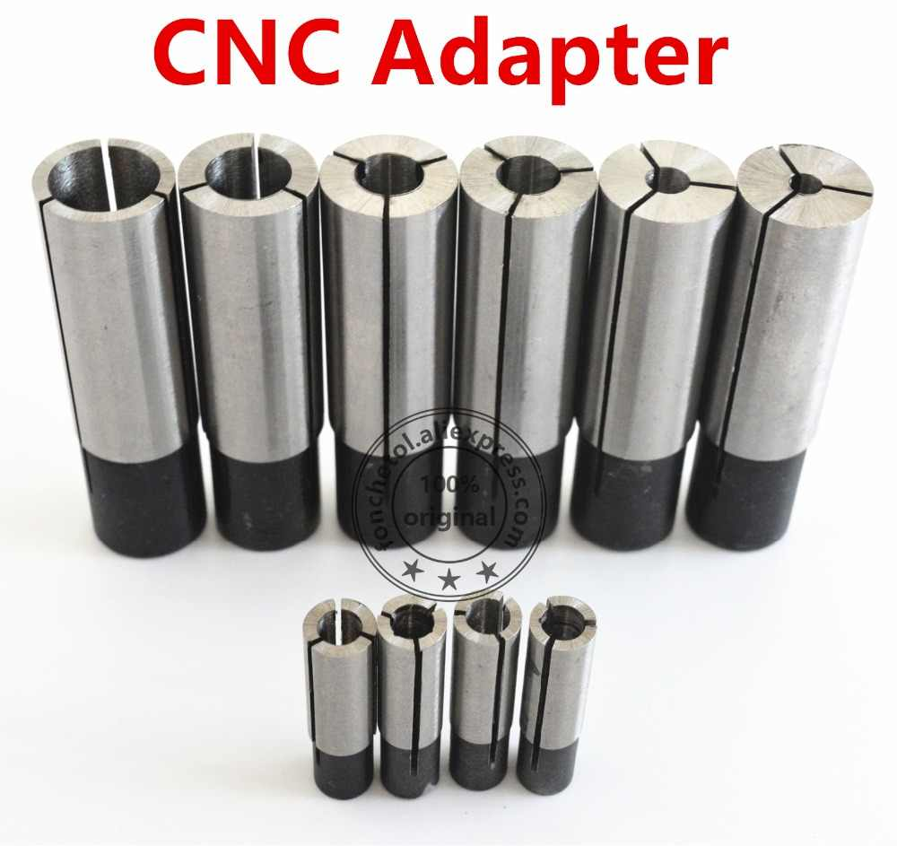 12.7mm-3.175 4 6 6.35 8 10mm-1PCS,Free post CNC Collet conversion sleeve High-precision adapter,engraving machine accessories