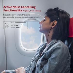 Image 3 - פעיל רעש מבטל אוזניות USB סוג C ב אוזן Wired אוזניות עם מיקרופון סטריאו אוזניות עם ANC עבור Huawei xiaomi סמסונג