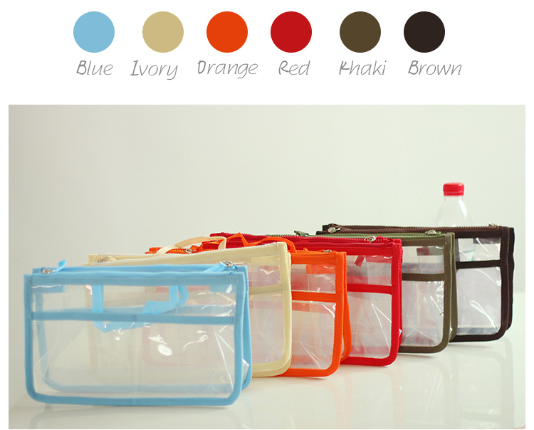 women transparent beach bag necessaries makeup organizer travel ...
