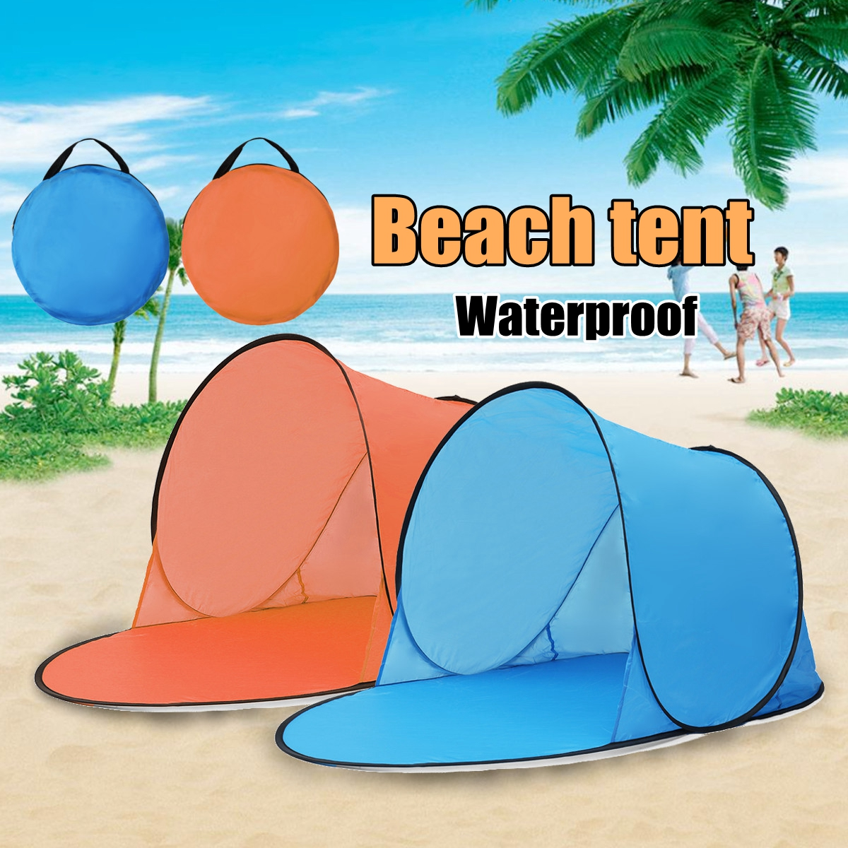 Outdoor Portable Waterproof Camping Beach Tent Pop Up Open Camping Tent Fishing Hiking O ...