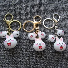 Cartoon Keychain -Hot Sale Cute Anime Rabbit Key Chain Bunny Key Ring Christmas Gift Women Men Bag Charm Jewelry Pendent