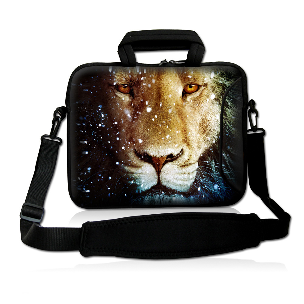 12 Inch Notebook Netbook Neoprene Messenger Bags Cases + Shoulder 11.6 12.1 Mini PC Laptops Bag Lion Briefcase For Men & Women