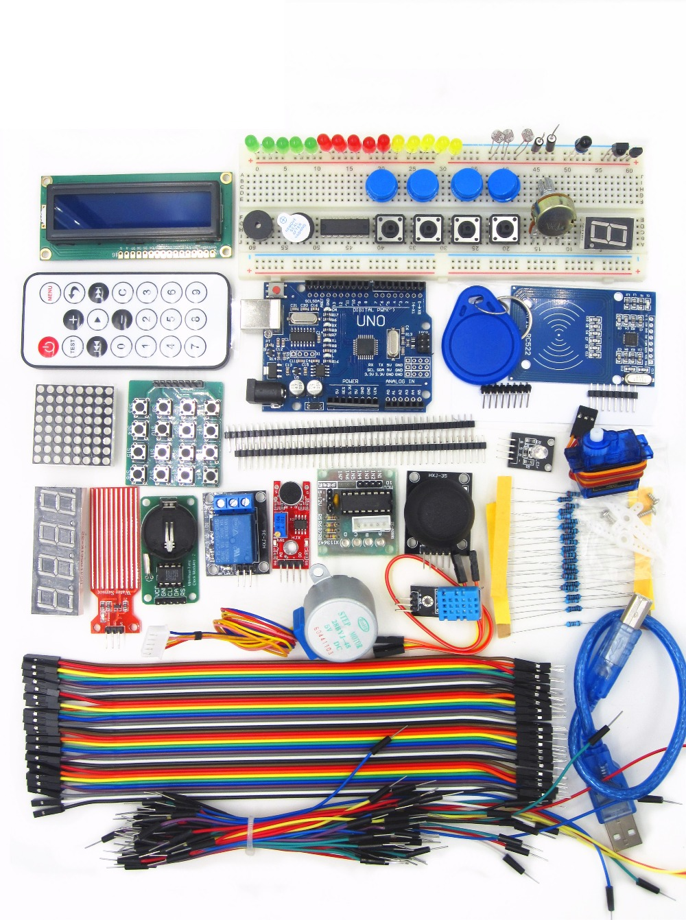 UNO R3 KIT Upgraded version of the Starter Kit the RFID learn Suite LCD 1602 kit riggs r library of souls