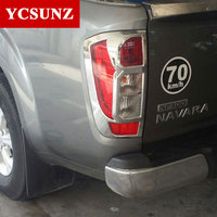 2014 2019 ABS Car Chrome Strips For Nissan Navara 2019 Np300 Accessories Rear Lamp Cover Trim For Nissan frontier 2016 Ycsunz