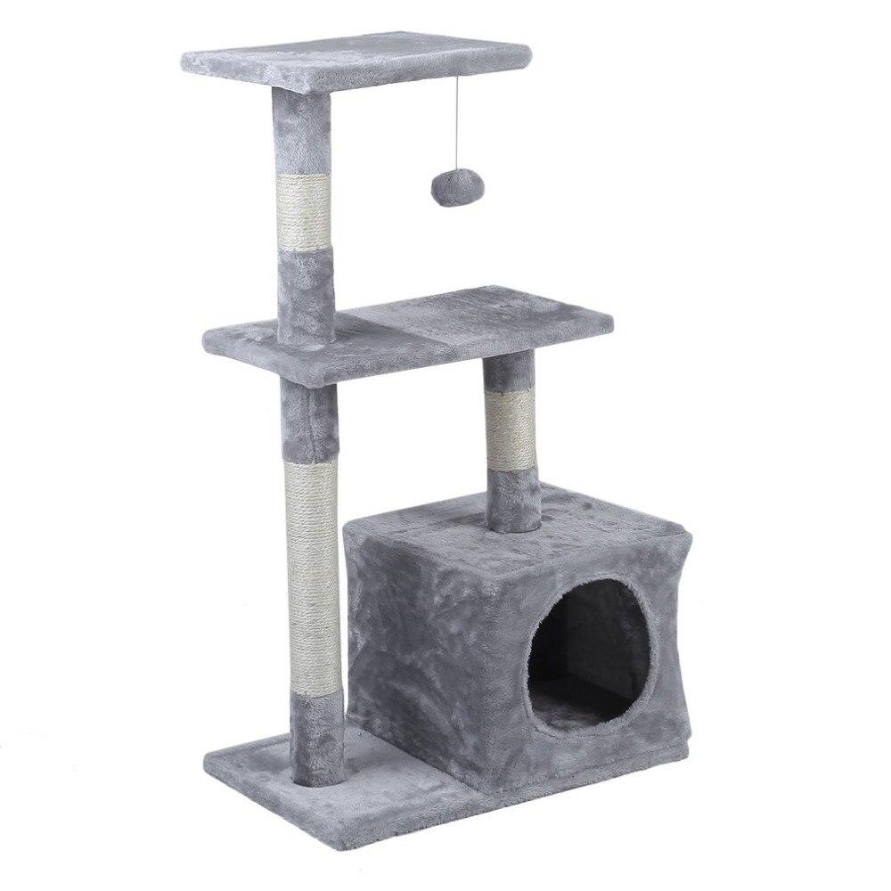 Cadre d'escalade arbre de chat 85cm hauteur rapide animaux de compagnie griffoir poteaux animaux jouets maison amusement jouer sautant jouet Kits de toilette 2019 chaud