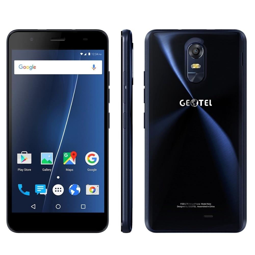 Original Geotel Note 4G Phone Android 6.0 3GB RAM 16GB ROM MTK6737 Quad Core 720P 13MP Dual SIM 5.5 inch