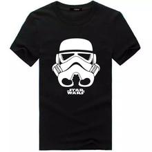 Men 2017 Summer Fashion star wars Yoda/Darth Vader Unique Masculine Streetwear T-Shirt Man Casual T Shirts masks Words Hip Hop