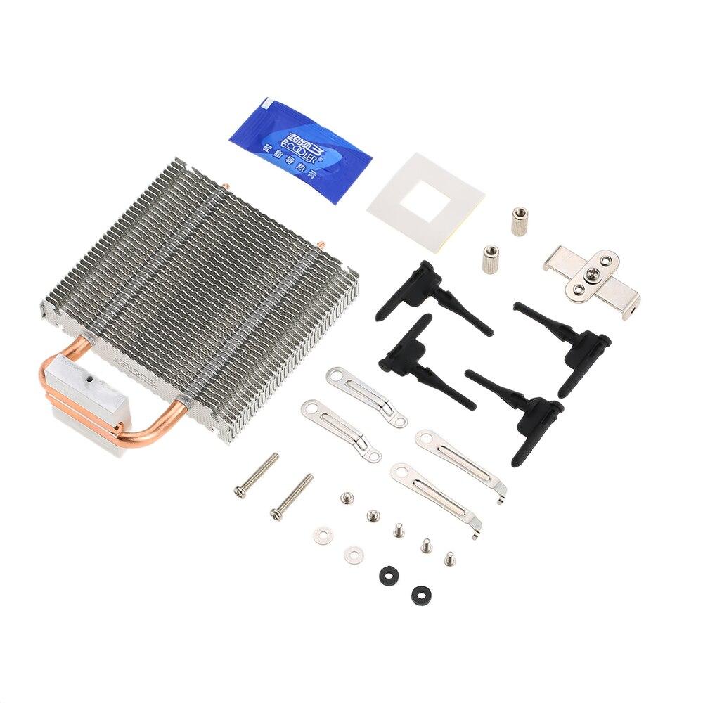 CPU Cooler HB-802 2 Heatpipes Radiator Aluminum Heatsink Motherboard/Northbridge Cooler Cooling Support 80mm CPU Fan цена