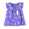 Розничная новое лето дети платье для девочек с цветком печати девочка платья летней одежды