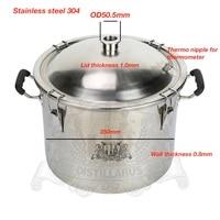 Tank For Distillation Boiler Distillery Tank 25L 5 5 Gal 1 5 OD50 5mm Tri Clamp