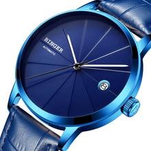 2017 BINGER Montres Hommes Marque De Luxe automatique mécanique Hommes Montre Saphir Montre-Bracelet Mâle Japon Movemt reloj hombre 5079-12