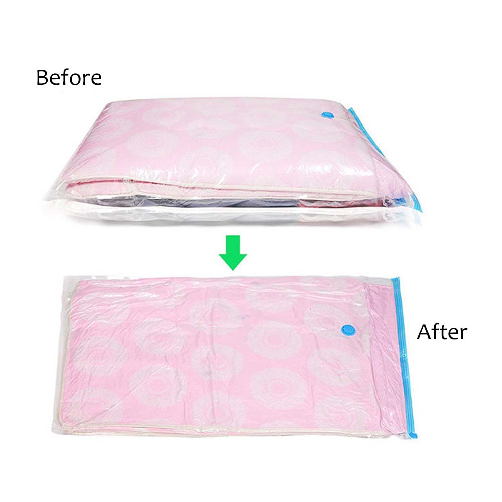 Image 3 - Convenient Vacuum Bag Storage Home Organizer Transparent Clothes Organizer Seal Compressed travel Saving Space Bags Package-in Foldable Storage Bags from Home & Garden